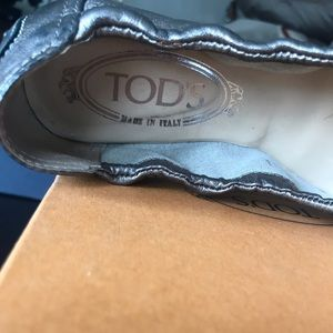 Tod's Ballerina Leather Driving Shoe